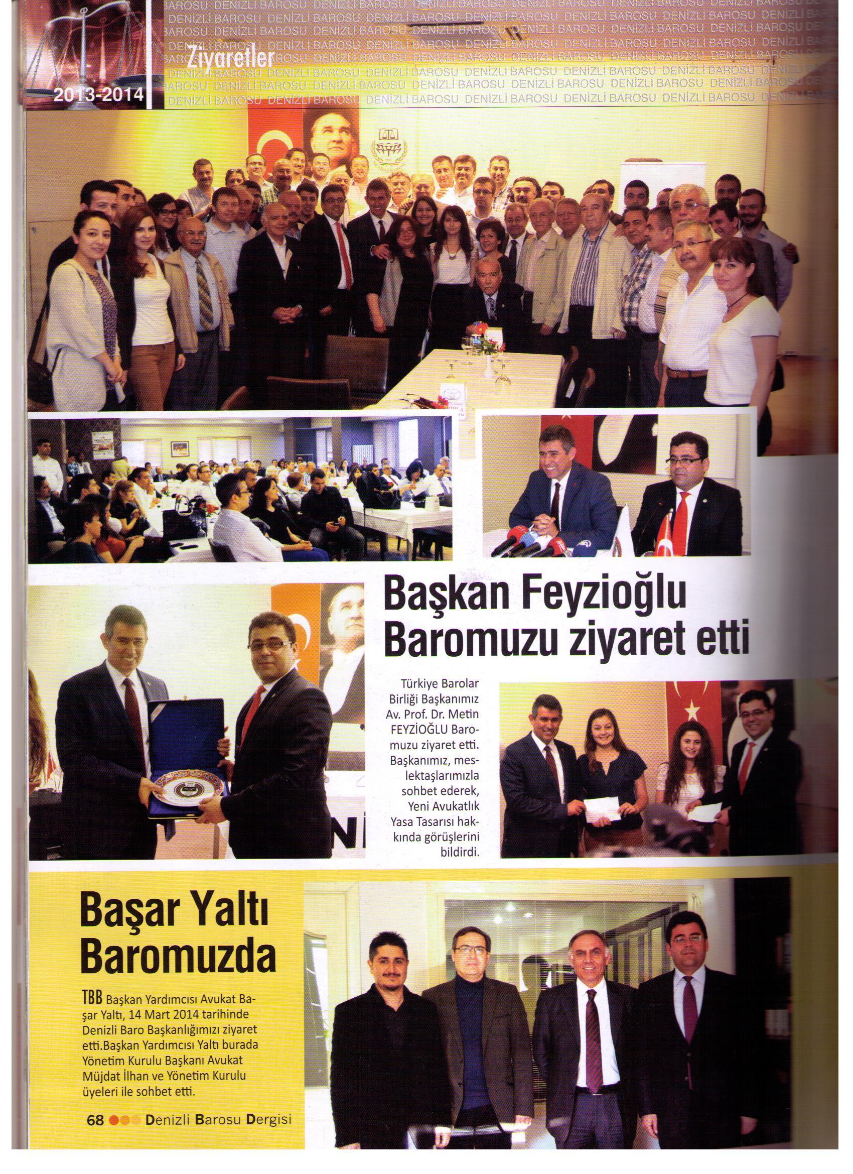 Denizli Barosu Dergisi, Denizli Barosu Yay�n Organ� 2013-2014 Y�l:2 Say�:5