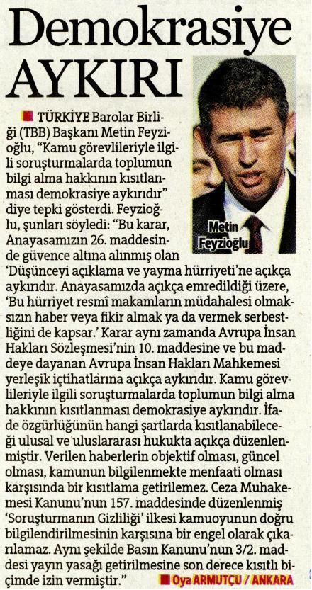 H�rriyet, Demokrasiye Ayk�r�