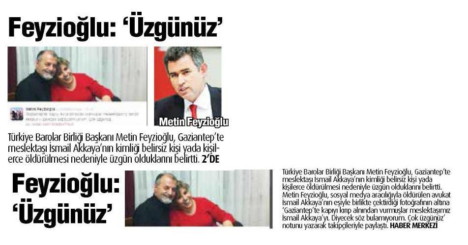 Yerel - Gaziantep 27, Feyzio�lu : �zg�n�z