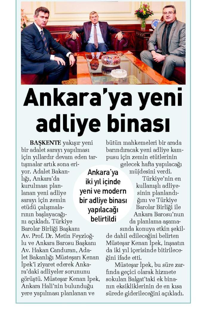 Sabah Ankara, Ankara'ya yeni adliye binas�