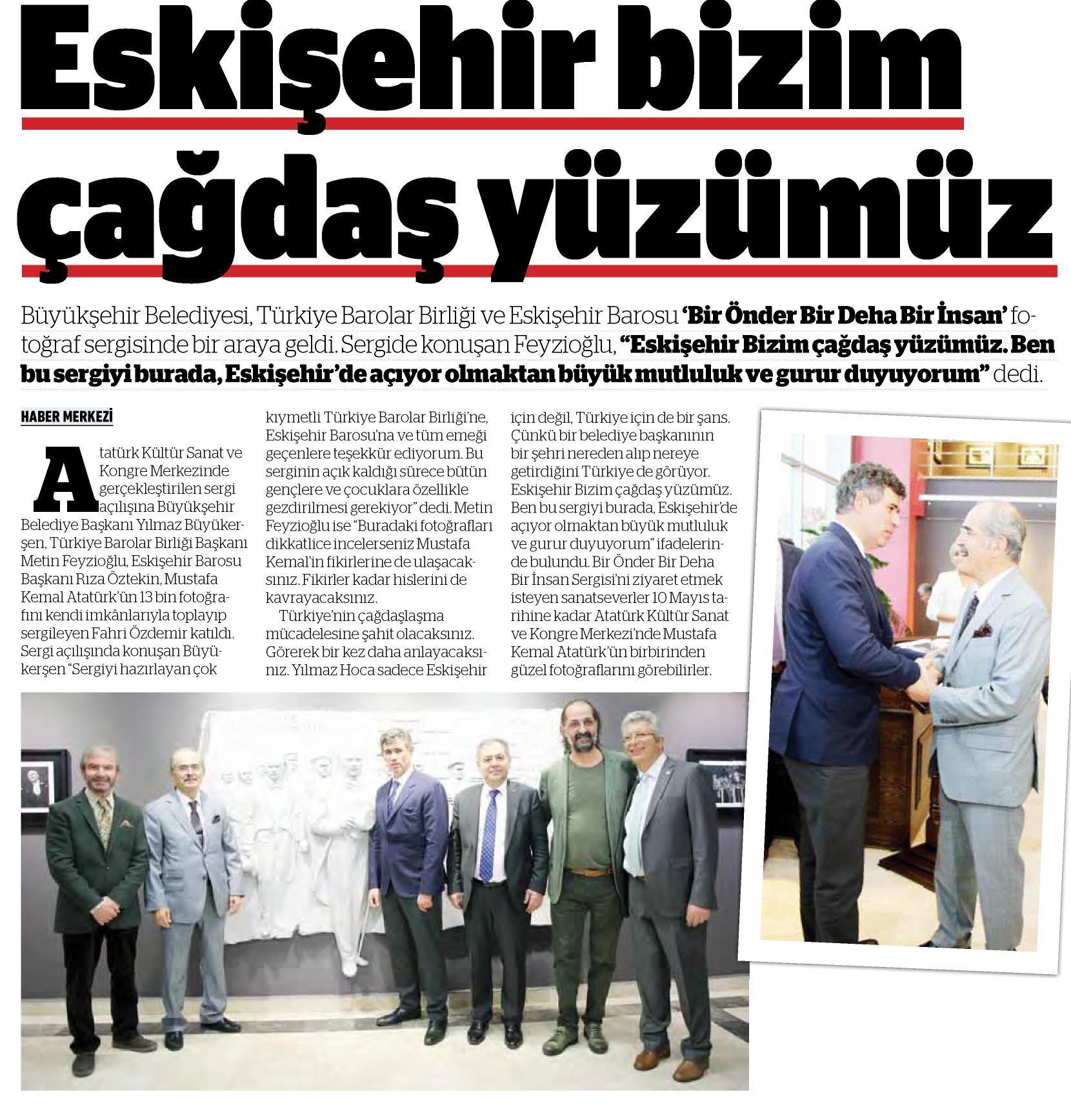 Yerel - Eskişehir Anadolu, Eskişehir bizim çağdaş yüzümüz