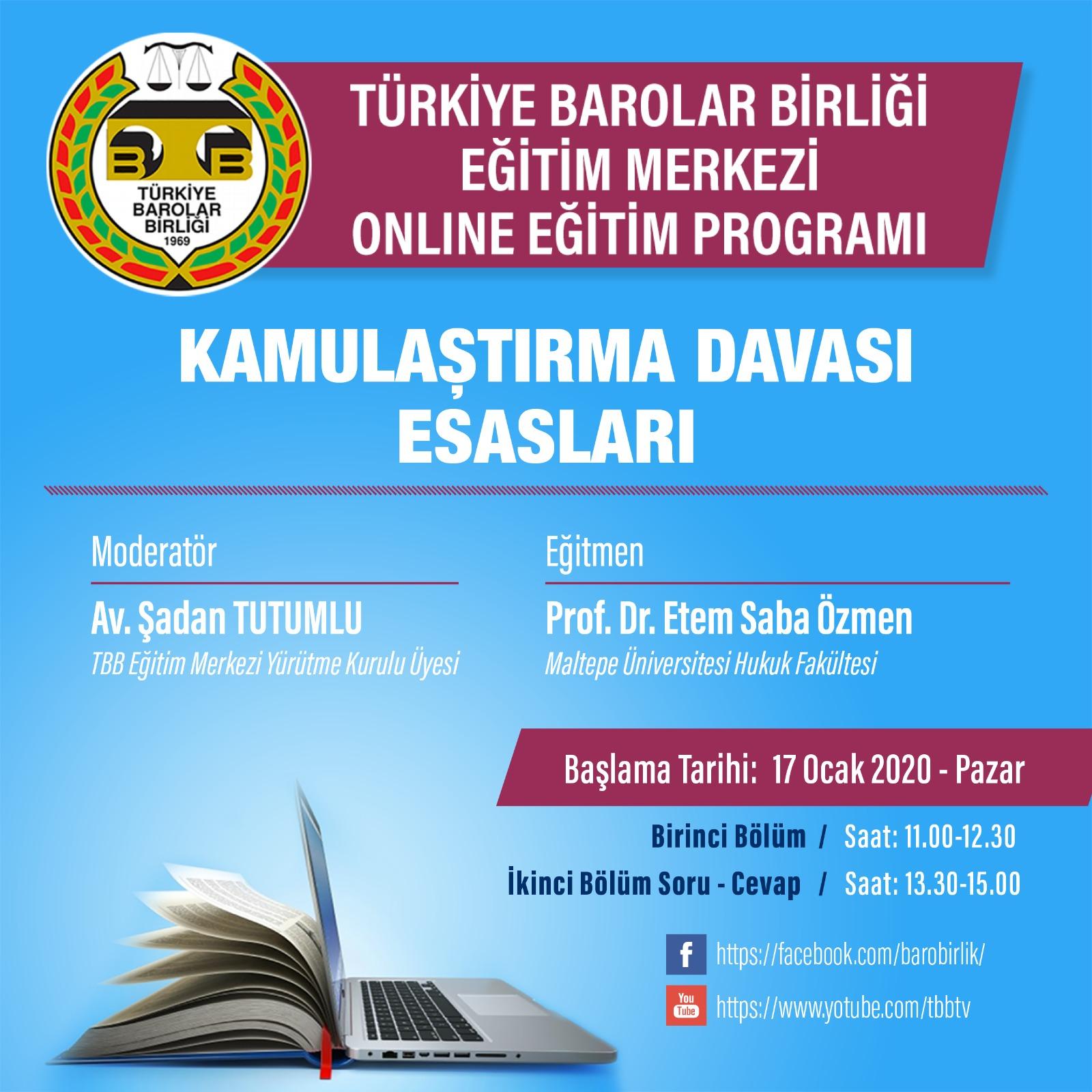 TBB Eğitim Merkezi Online Eğitim 17.01.2021