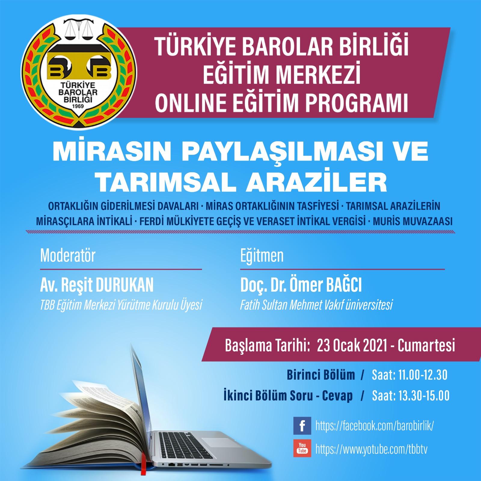 TBB Eğitim Merkezi Online Eğitim 23.01.2021