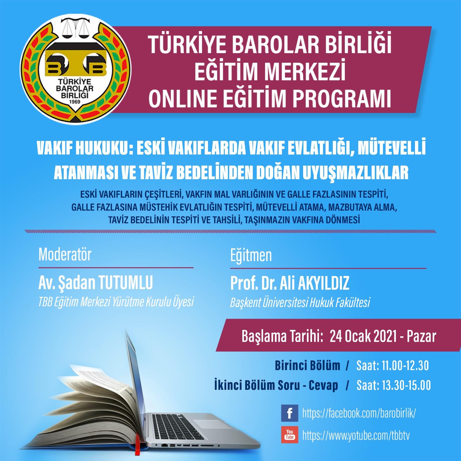 TBB Eğitim Merkezi Online Eğitim 24.01.2021
