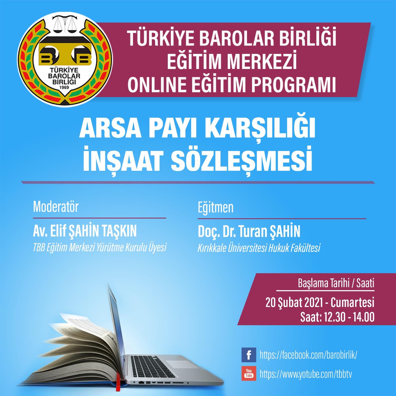TBB Eğitim Merkezi Online Eğitim 20.02.2021