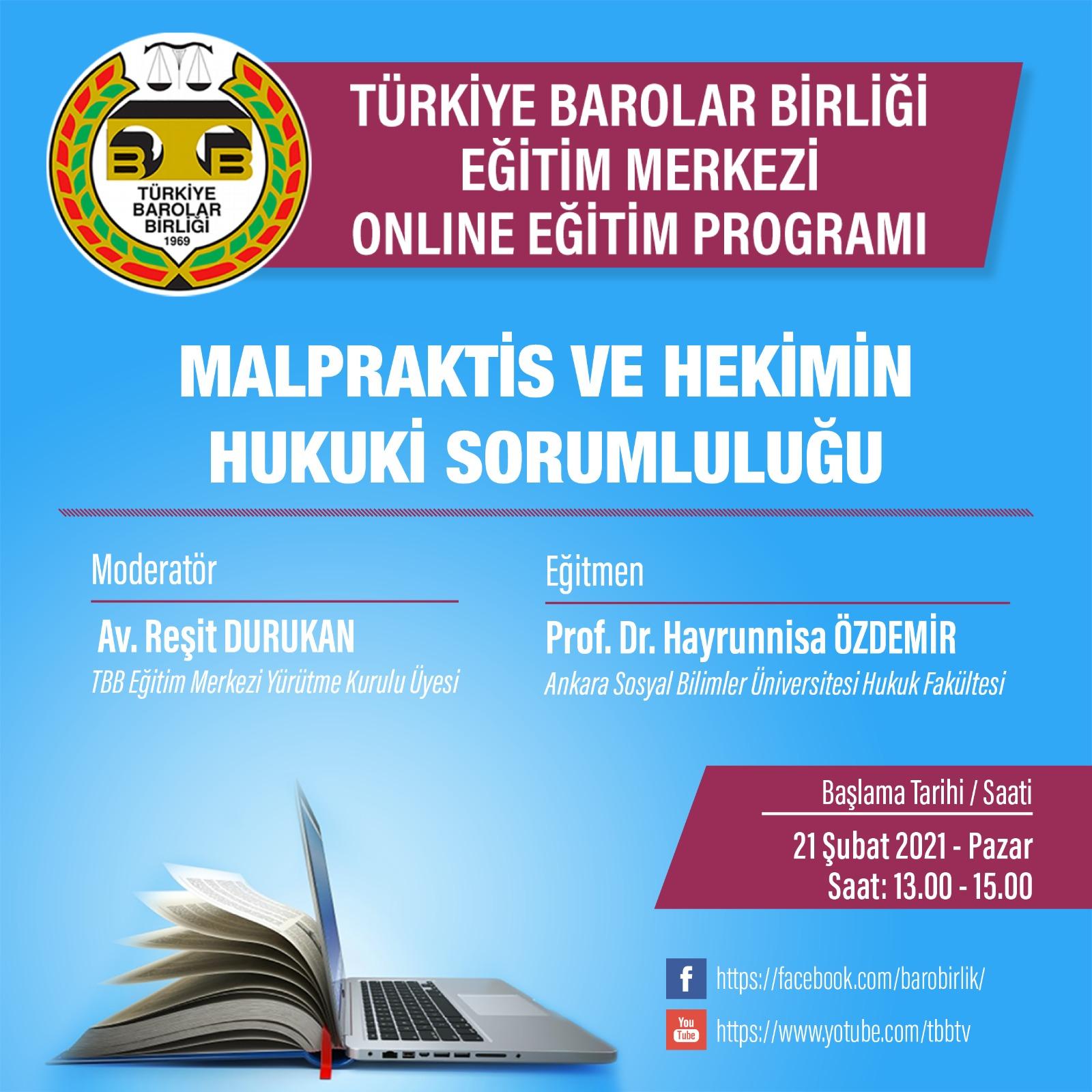 TBB Eğitim Merkezi Online Eğitim 21.02.2021