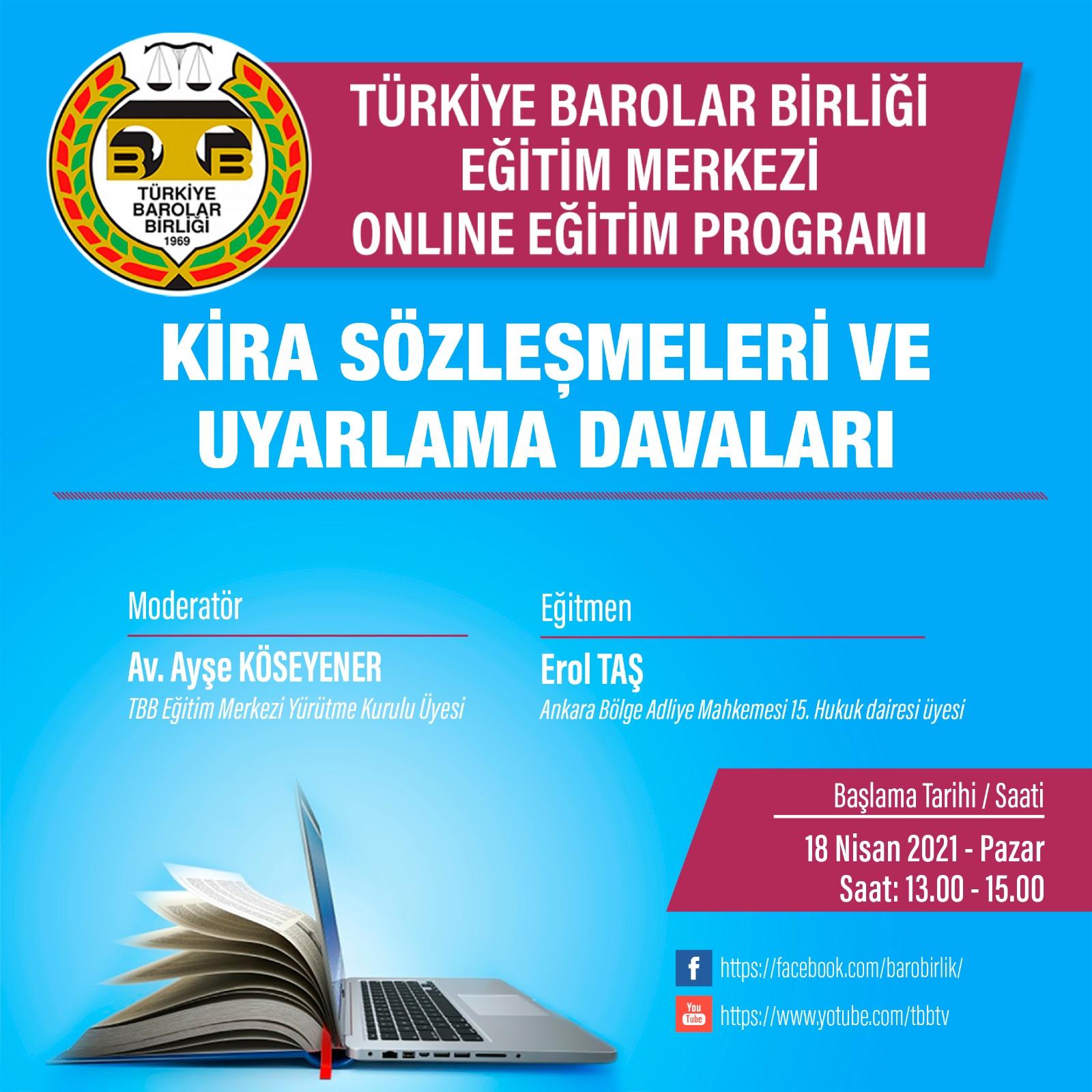 TBB Eğitim Merkezi Online Eğitim 18.04.2021