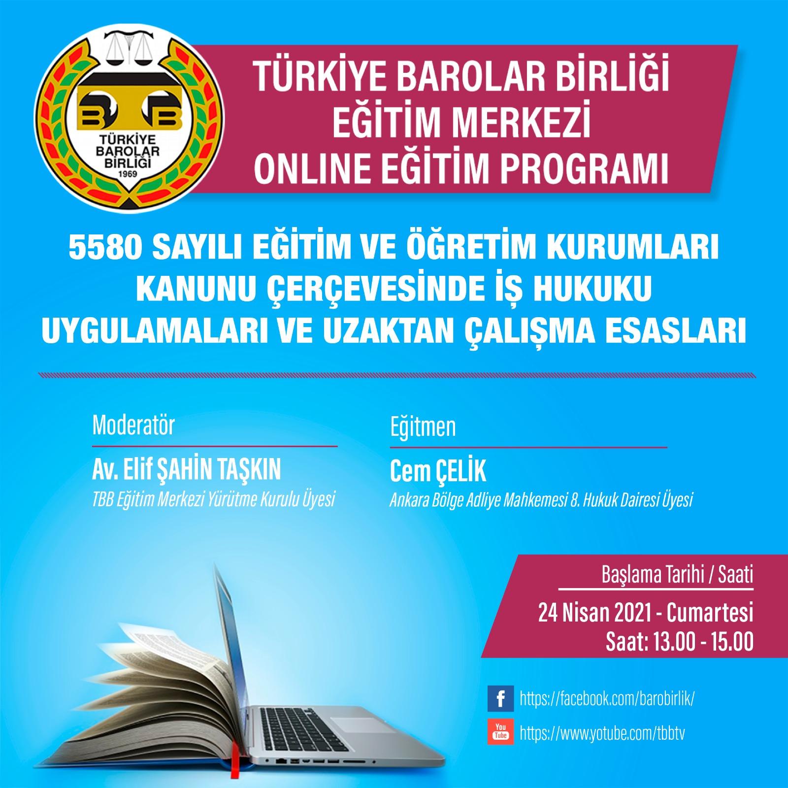TBB Eğitim Merkezi Online Eğitim 24.04.2021