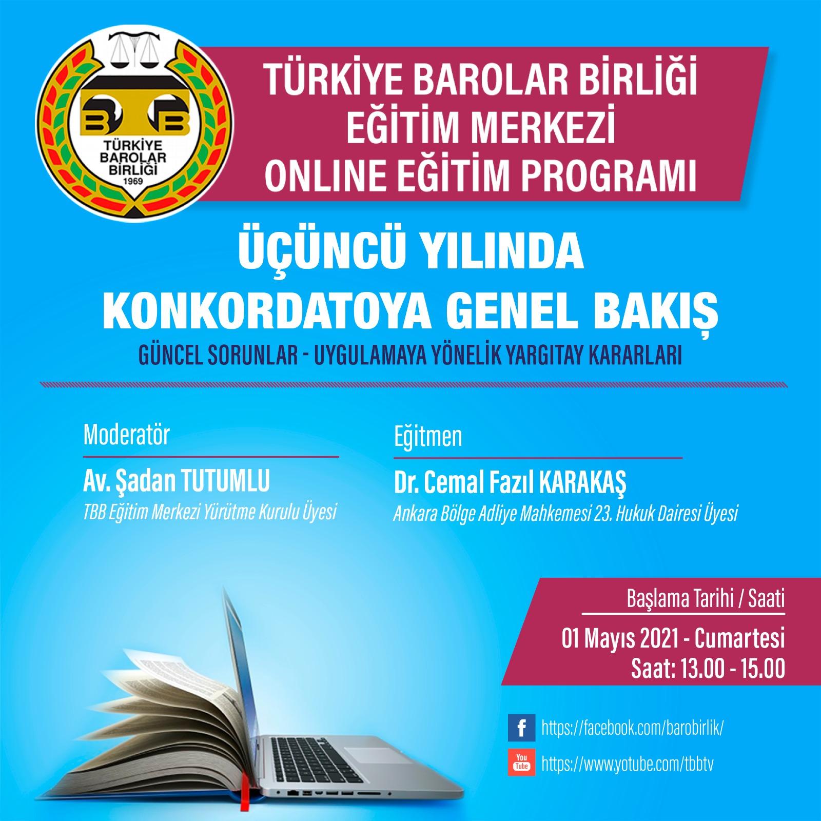 TBB Eğitim Merkezi Online Eğitim 01.05.2021