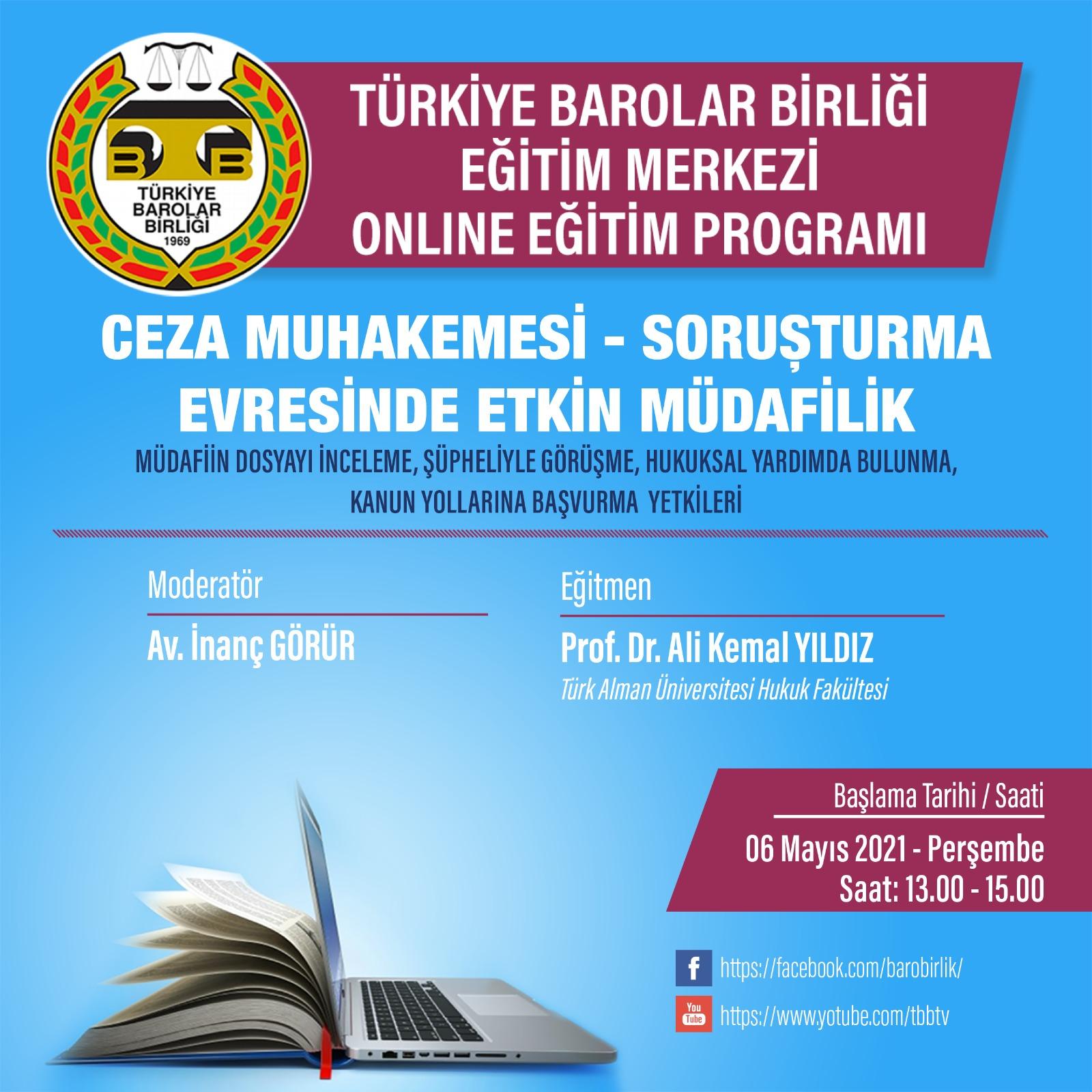 TBB Eğitim Merkezi Online Eğitim 06.05.2021