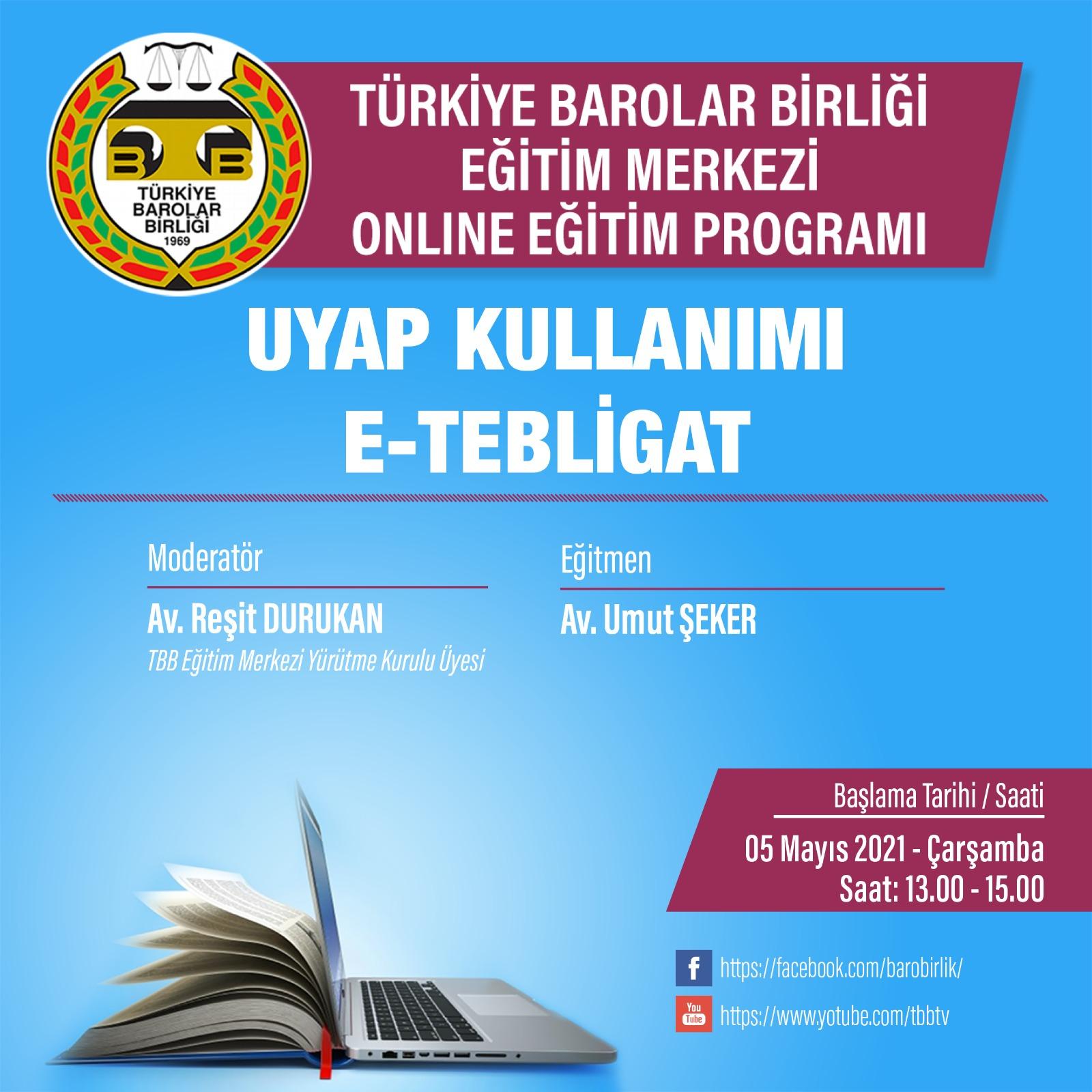 TBB Eğitim Merkezi Online Eğitim 05.05.2021
