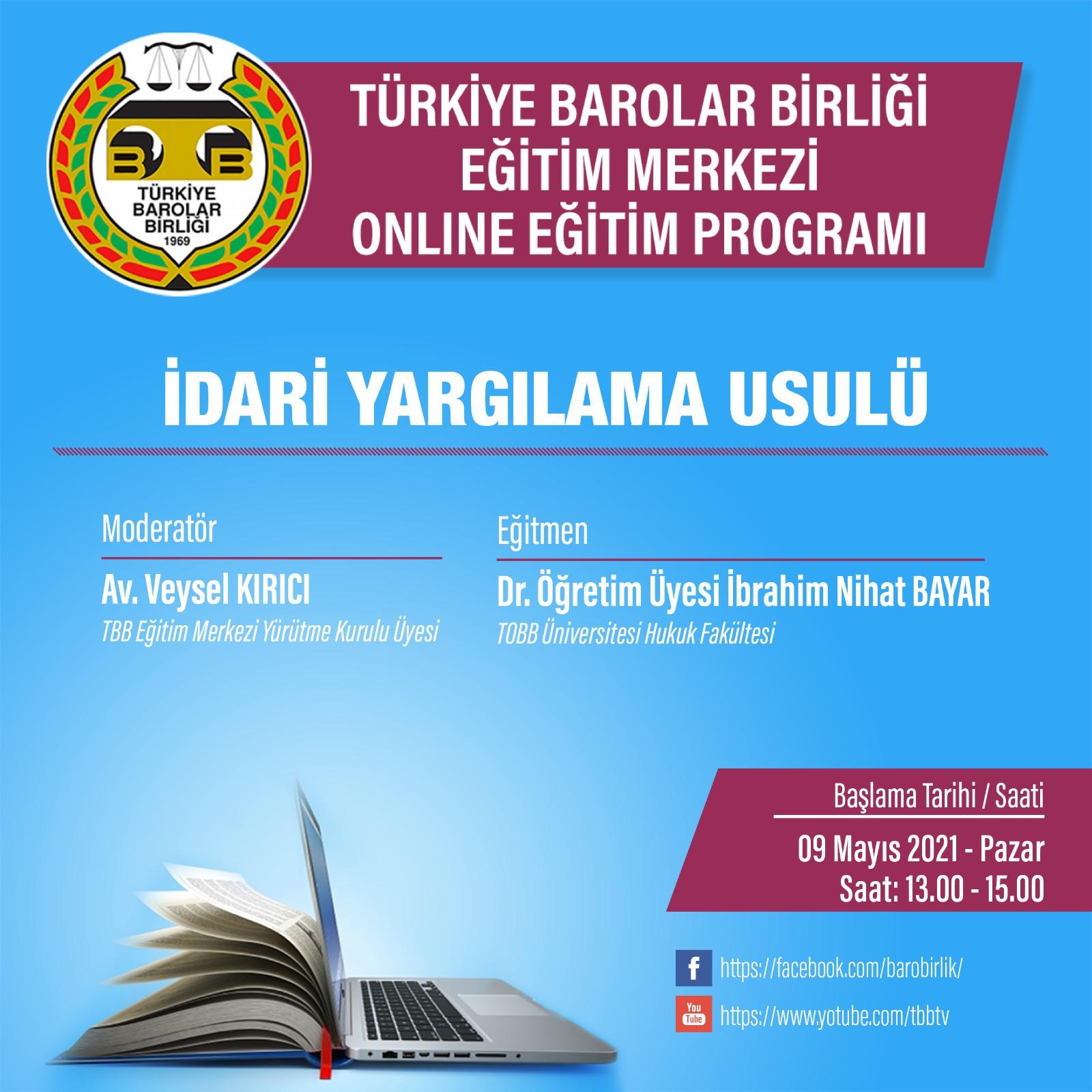 TBB Eğitim Merkezi Online Eğitim 09.05.2021