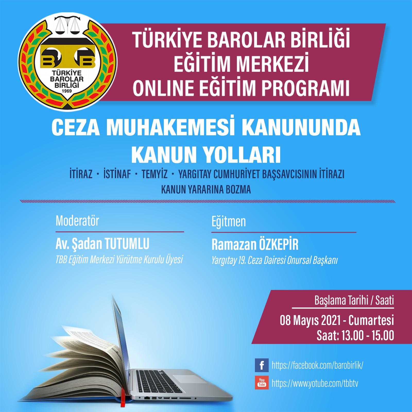 TBB Eğitim Merkezi Online Eğitim 08.05.2021