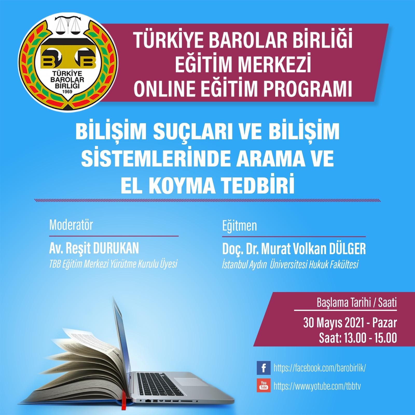 TBB Eğitim Merkezi Online Eğitim 30.05.2021