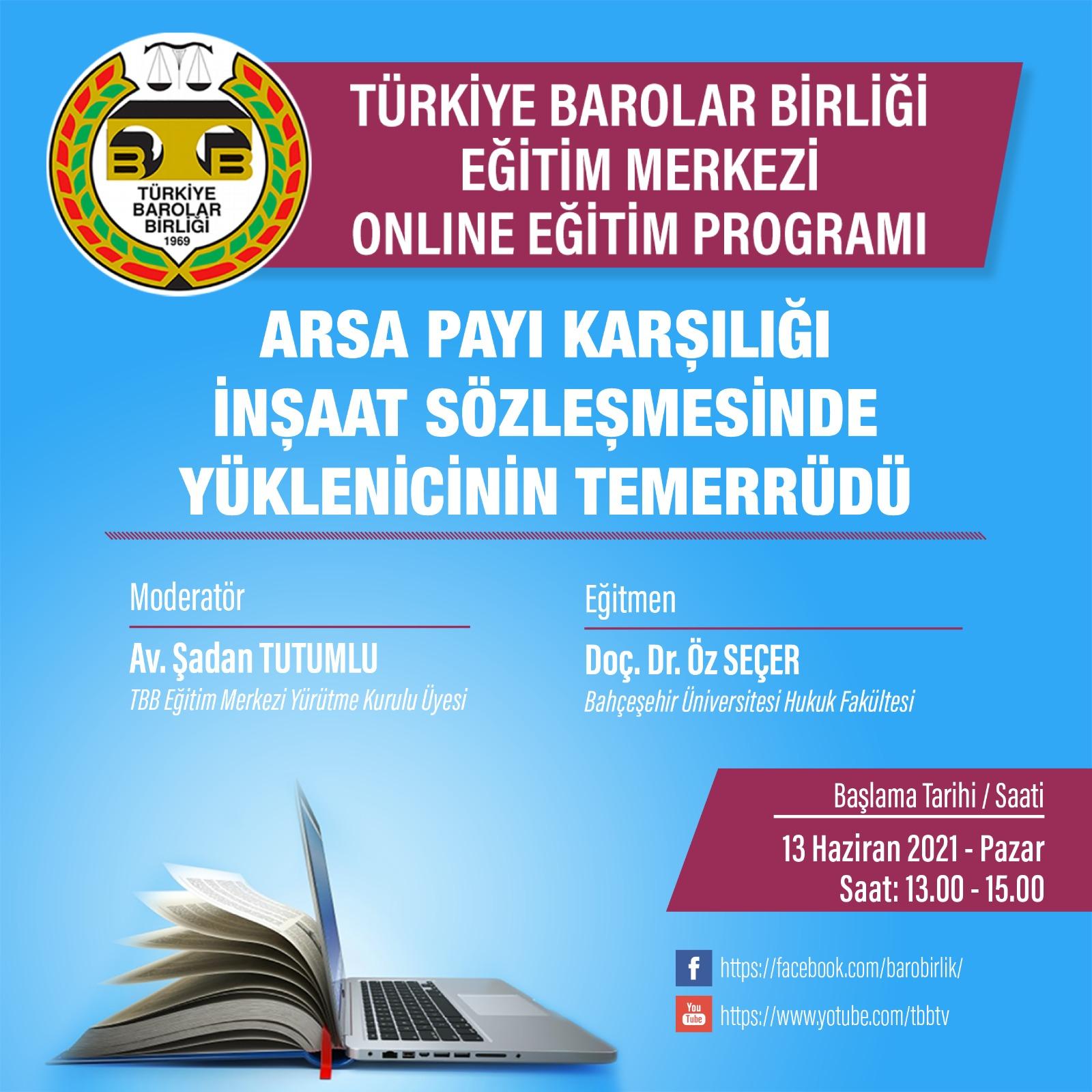 TBB Eğitim Merkezi Online Eğitim 13.06.2021