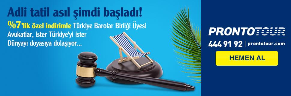 ProntoTour'dan Türkiye Barolar Birliği Üyesi Avukatlara Özel İndirim