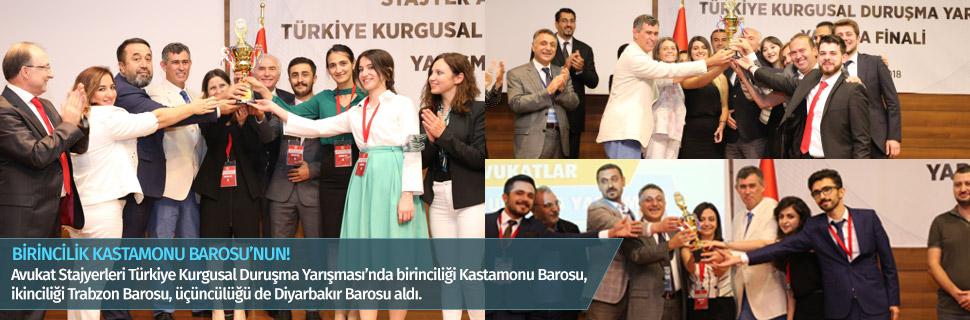BİRİNCİLİK KASTAMONU BAROSU'NUN!