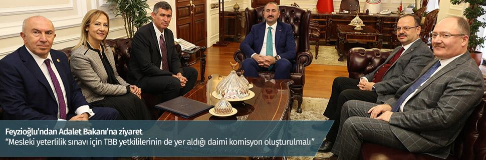 Feyzioğlu'ndan Adalet Bakanı'na ziyaret