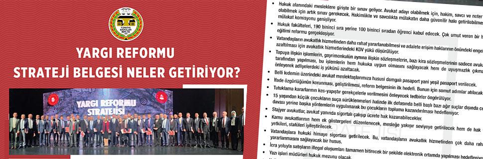 Yargı Reformu Strateji Belgesi Neler Getiriyor?
