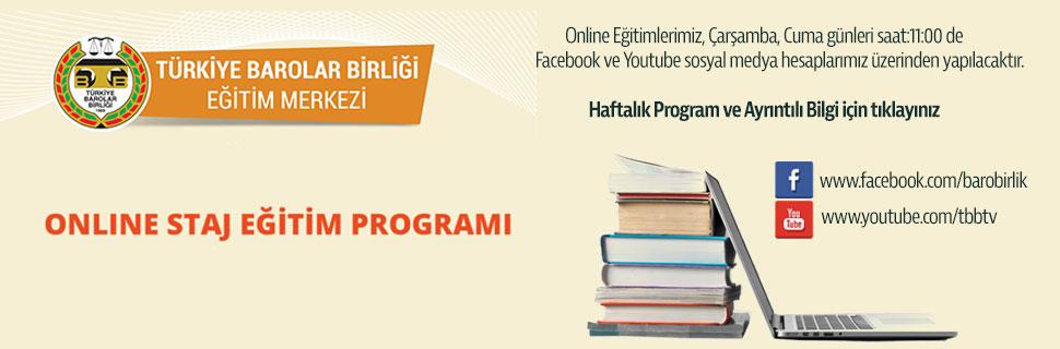 TBB Eğitim Merkezi Online Staj Eğitim Programları - 8.Hafta