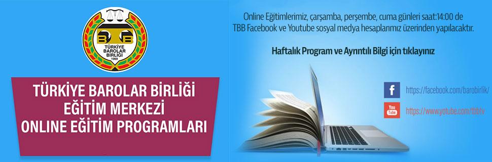 TBB Eğitim Merkezi Online Eğitim Programları - 8.Hafta